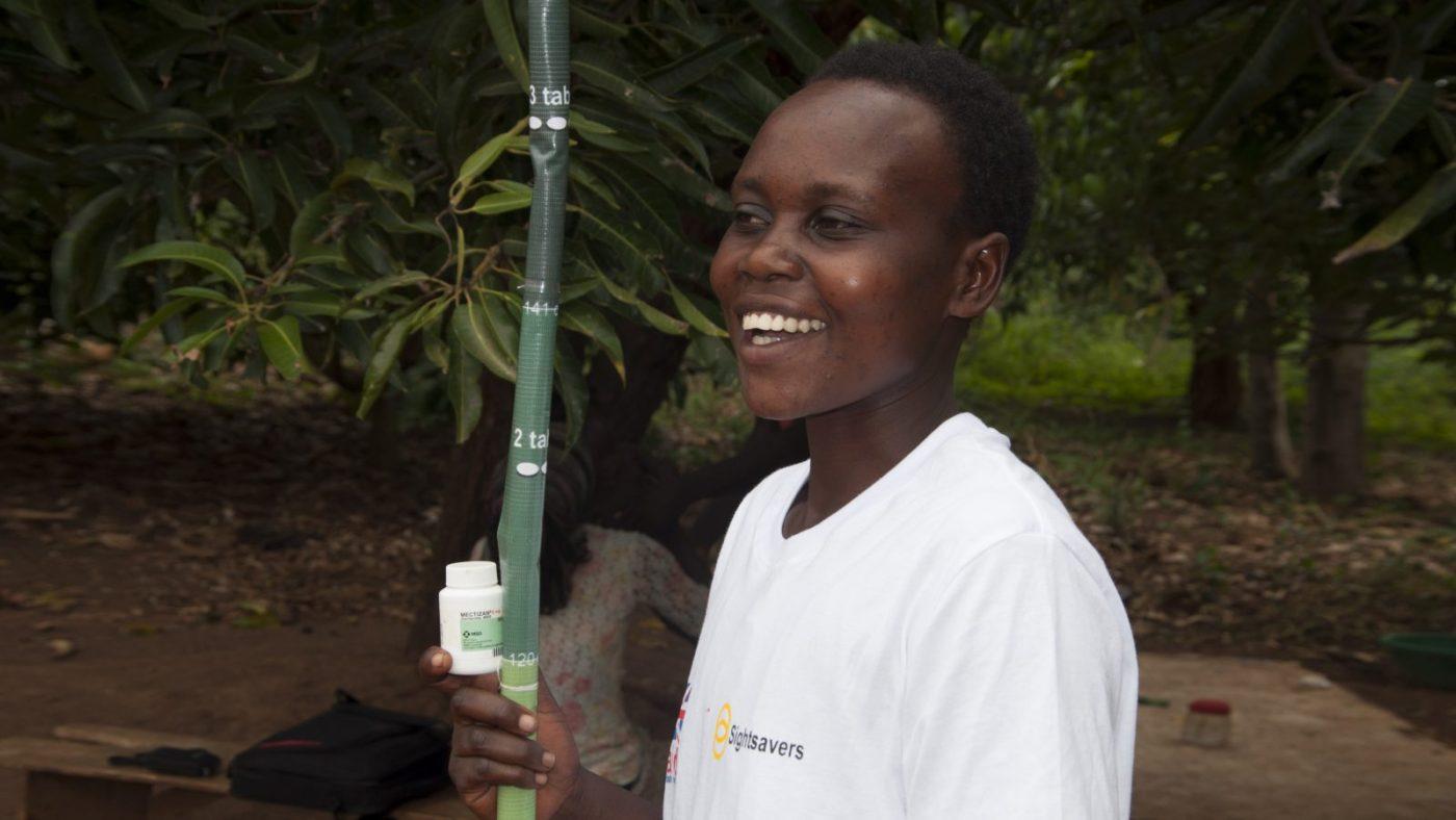 Joyce Kusiima, som är CDD-volontär i Uganda.