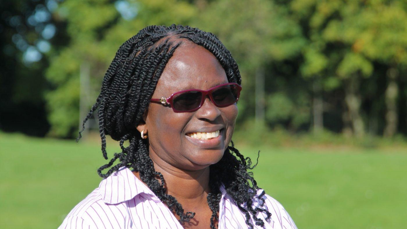 En leende Gertrude Oforiwa Fefoame.