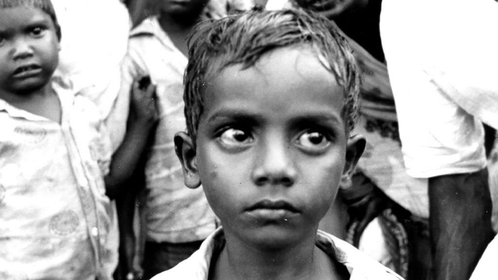 En liten pojke i Indien på 40-talet.