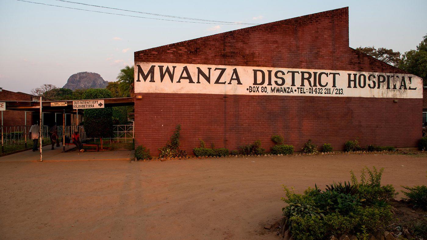 Distriktsjukhuset i Mwanza, Malawi.