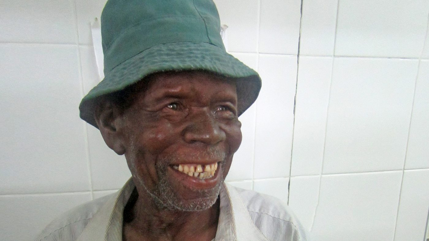 Emilio smiles following his treatment.