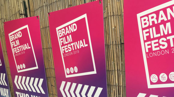 Posters for the film event, with the words 'Brand Film Festival 2019'.