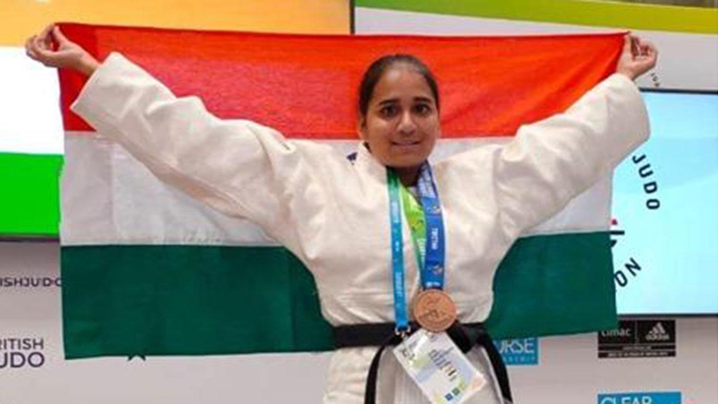 Sarita Choure på judomästerskapet.